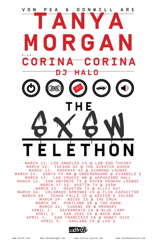 The SXSW Telethon Tour Poster 2015 ALL